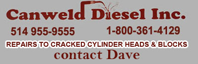 repairs to cracked cylinder heads & blocks